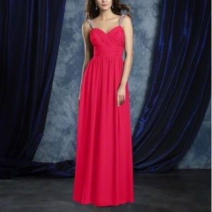Alfred Angelo Pink Floor Length Gown